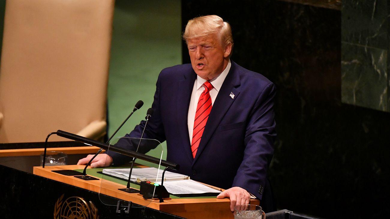 ONU. Donald Trump, presidente de los Estados Unidos.
