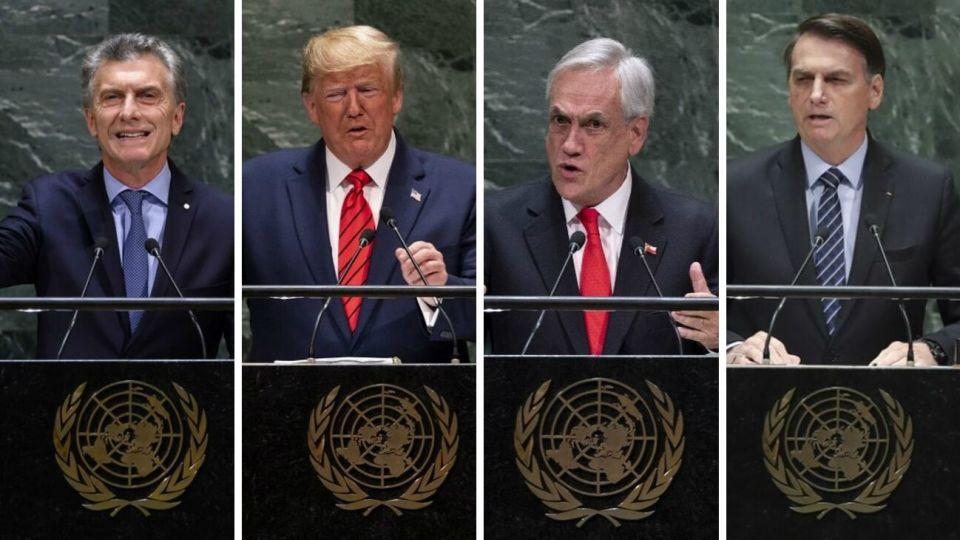 """El presidente Mauricio Macri y sus pares de Chile y Brasil instaron este martes a la comunidad internacional a utilizar todas las herramientas diplomáticas y jurídicas disponibles para acabar con la """"dictadura"""" de Nicolás Maduro."""