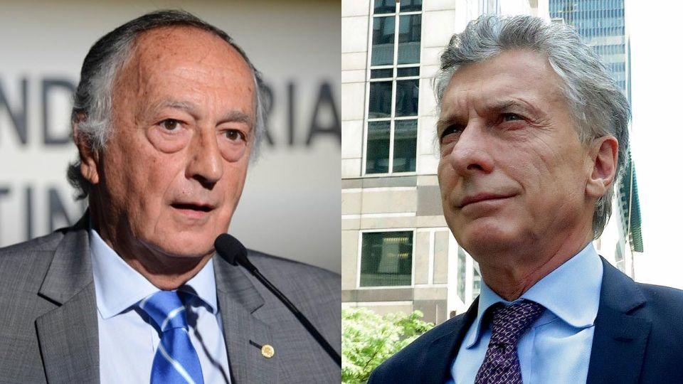 El presidente de la UIA Miguel Acevedo y el presidente de la nación Mauricio Macri.