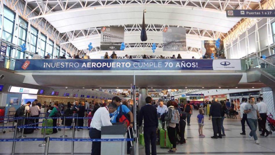 ARCHIVO. Aeropuerto Internacional de Ezeiza.