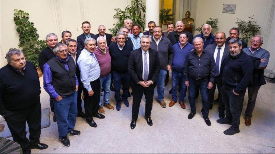 El apoyo que recibió Alberto Fernández de la CGT antes de las PASO.