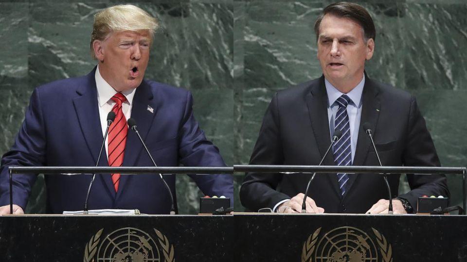 Los presidentes de Estados Unidos y Brasil.