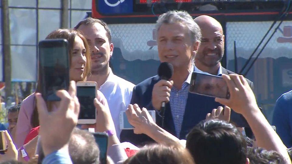 Mauricio Macri y Vidal en Campaña.