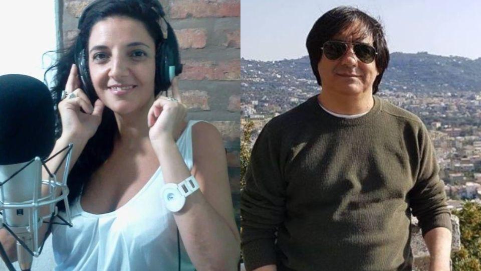 Claudia Vázquez y Rodolfo Ridao. La locutora fue agredida por el dueño de FM Bohemia.
