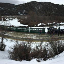 Una panorámica del Tren del Fin del Mundo, que evoca la historia de los habitantes del Presidio de Ushuaia.