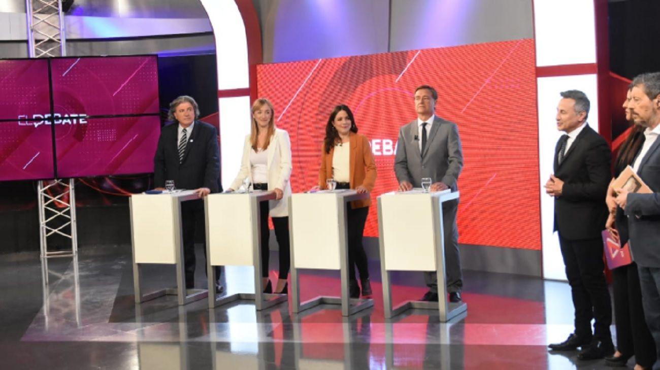 El debate se llevó a cabo en el Canal 7 de Mendoza.