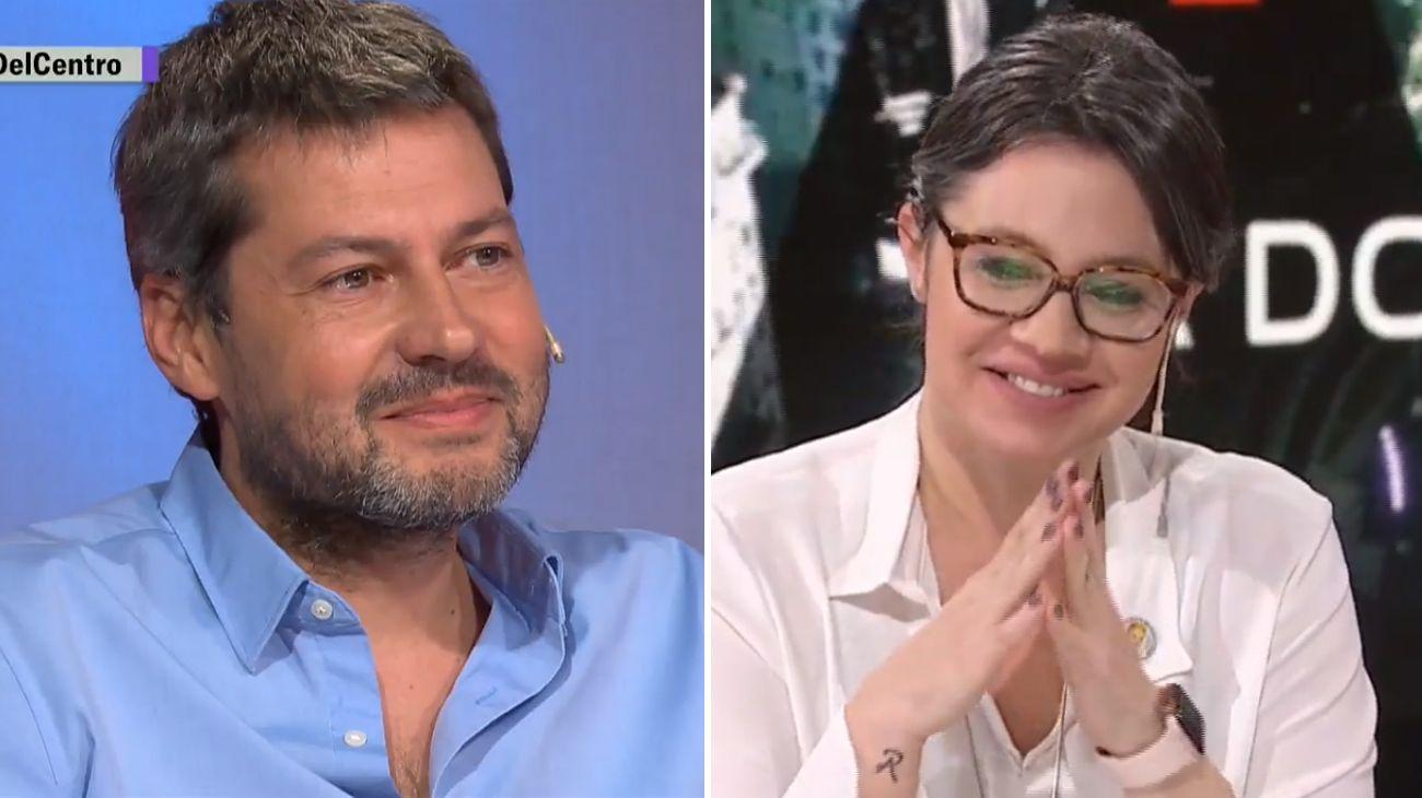 El candidato a jefe del gobierno porteño por el Frente de Todos, Matías Lammens, y su compañera de fórmula Gisela Marziotta