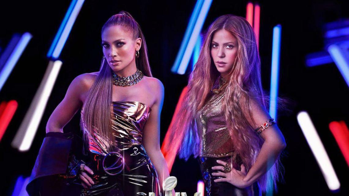 Shakira y Jennifer Lopez serán las estrellas del medio tiempo del Super Bowl