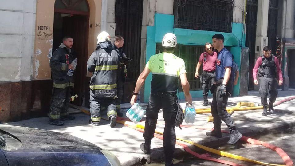Incendio hotel de Flores
