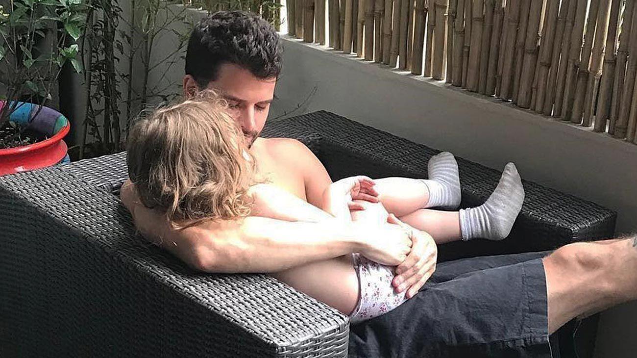 Vaca Narvaja. La ex pareja de Florencia cuida de la nena de 4 años.
