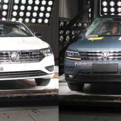 Tanto el Vento como el Tiguan Allspace recibieron cinco estrellas en las pruebas de impacto. Crédito: Latin NCAP.