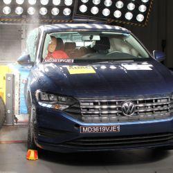 Prueba de impacto lateral del Volkswagen Vento. Crédito: Latin NCAP.