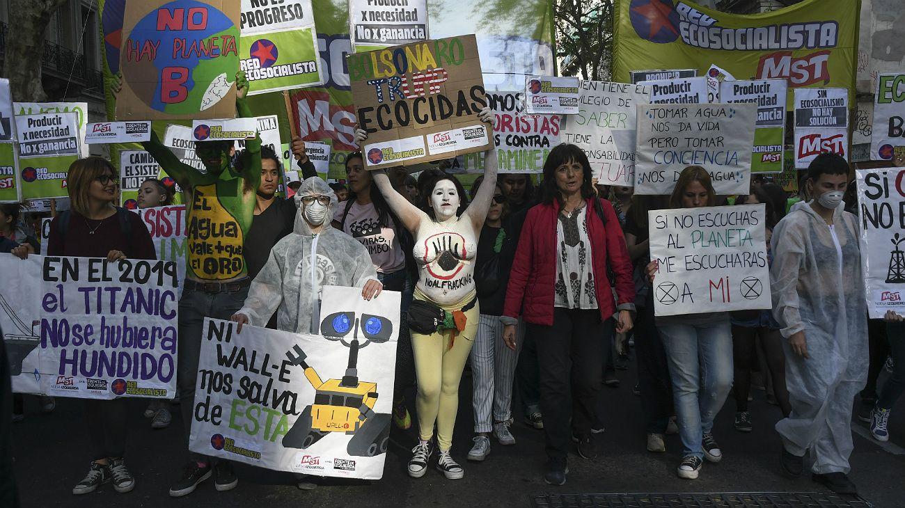 Marchas por el cambio climático en todo el país.