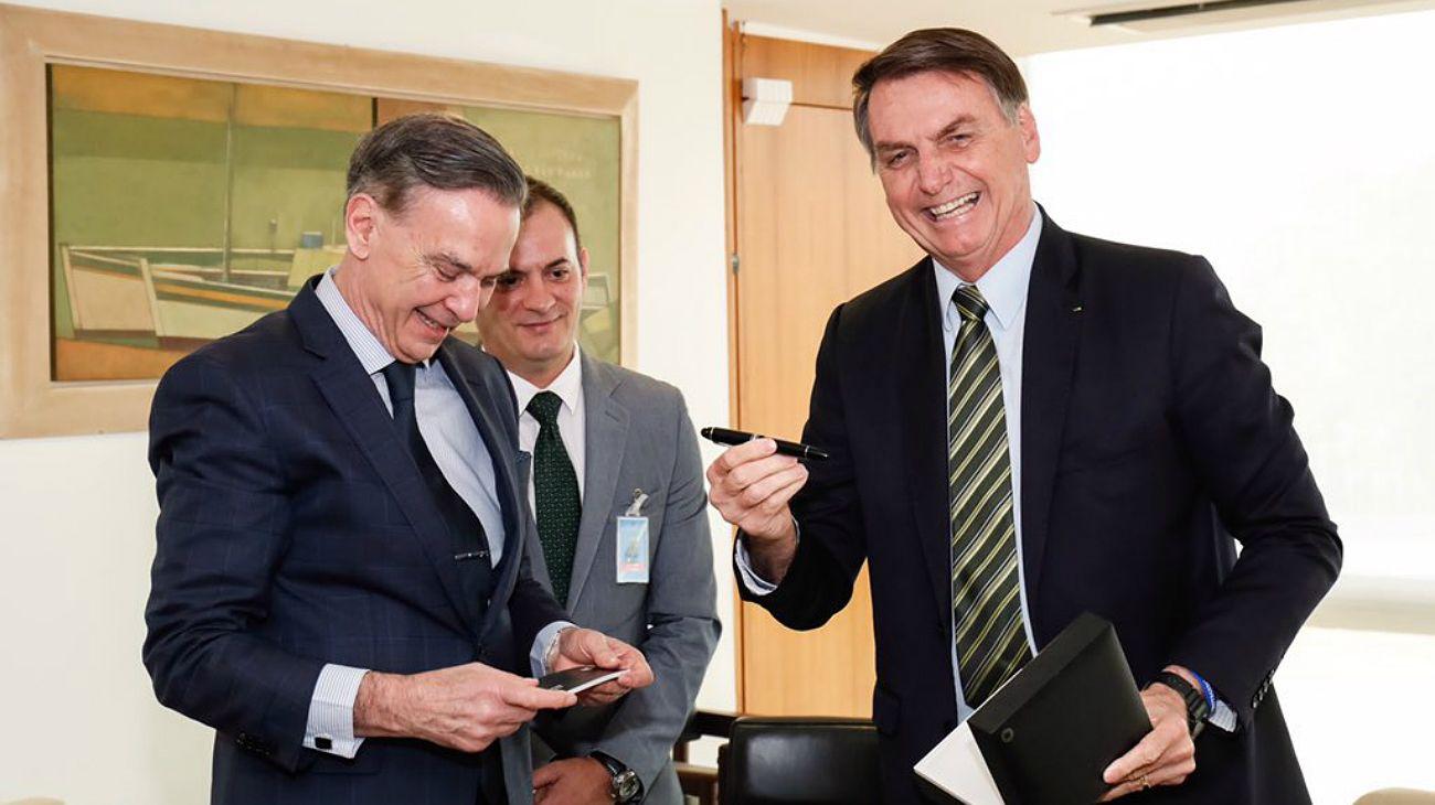 """Miguel Ángel Pichetto junto a Jair Bolsonaro: """"El Mercosur no existe sin Brasil"""""""