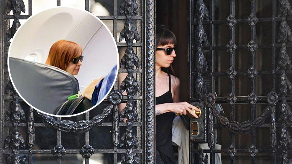 Preocupación. Florencia al salir de su departamento, poco antes de viajar a La Habana. Cristina emprende hoy su segundo viaje en el mes.