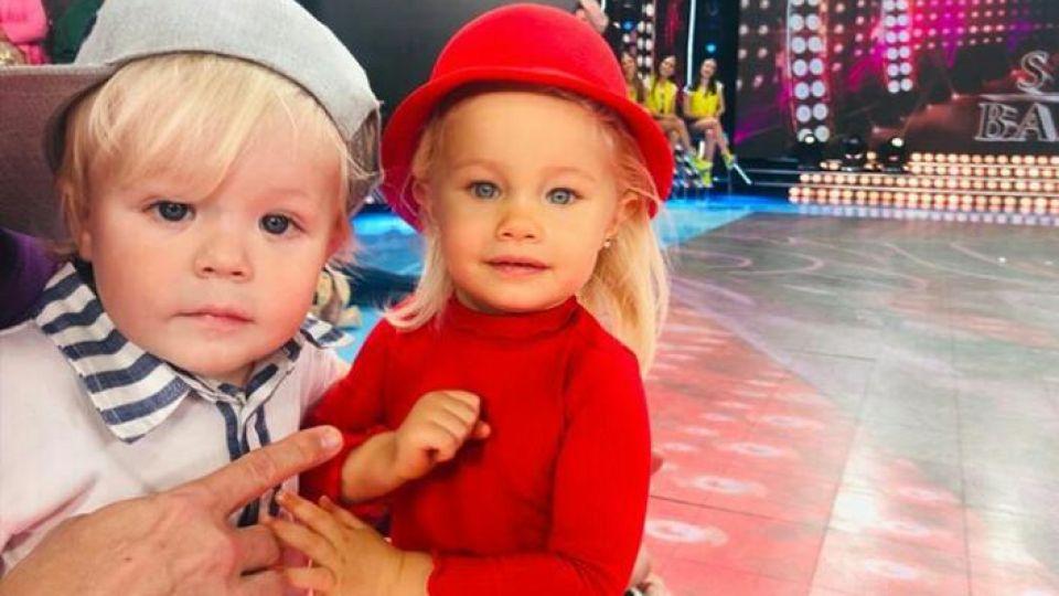 Los hijos de Luciana Salazar y Flavio Mendoza acapararon las cámaras en el Bailando