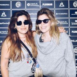Dalma y Gianinna Maradona en el Club de Gimnasia y Esgrima La Plata