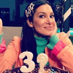 Silvina Escudero en su cumpleaños