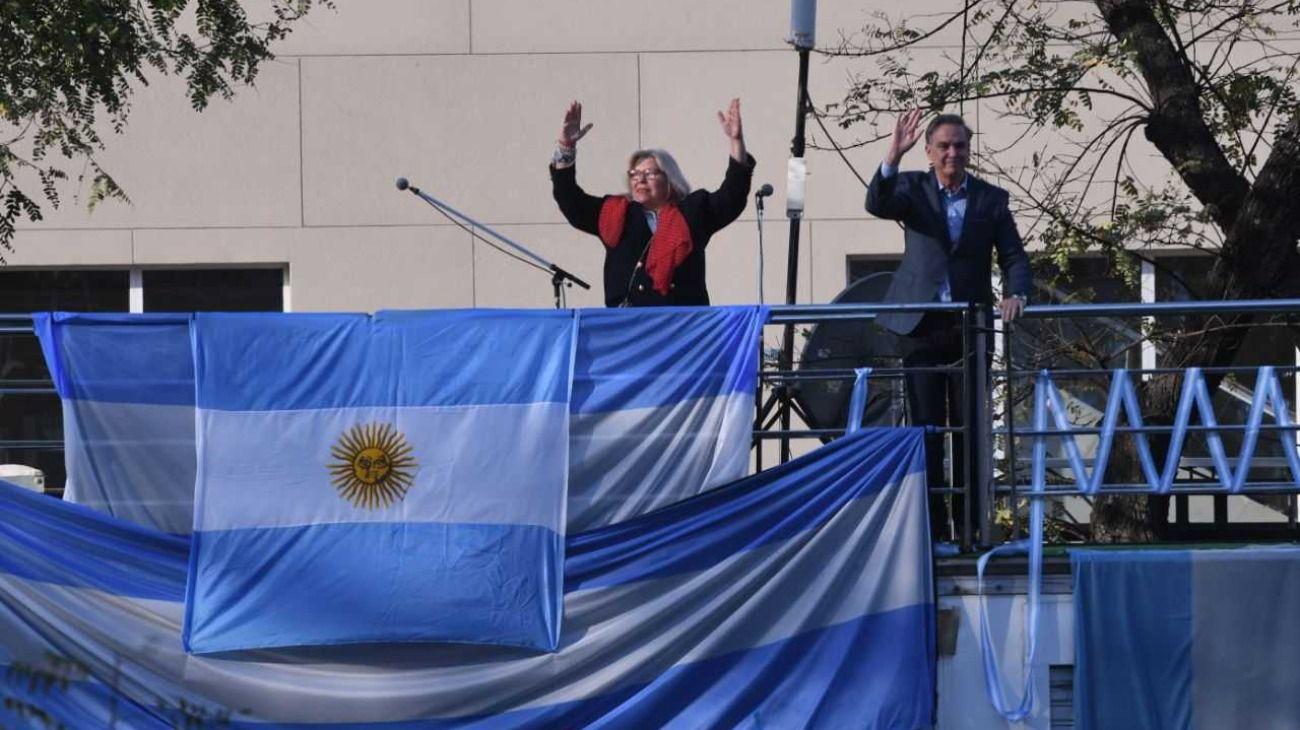 """Así fue la marcha del """"Sí se puede"""" en Barrancas de Belgrano."""