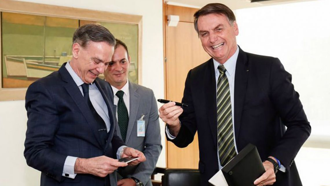 Pichetto and Bolsonaro.