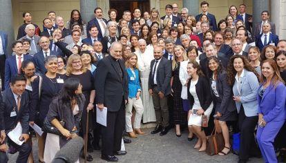 Cumbre. En junio, en El Vaticano, el Papa reunió al Comité Panamericano de Juezas y Jueces.