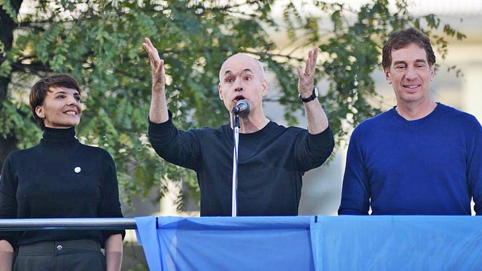 Protagonistas. Rodríguez Larreta lo presentó a Macri. Peña y Carrió, en sintonía. Pichetto, uno de los discursos más duros contra los K.