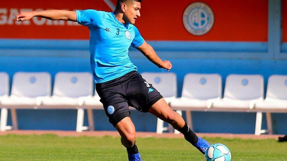 Amione. El juvenil, que ya está vendido al fútbol italiano, debuta en la primera de Belgrano.