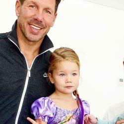 Diego Simeone festejó en familia los tres años de su hija, Francesca