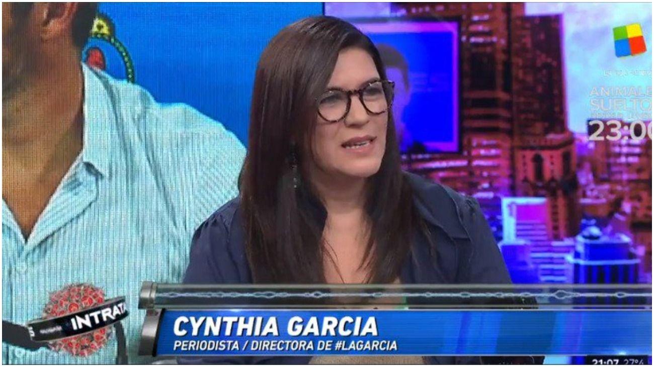 La periodista Cynthia García.