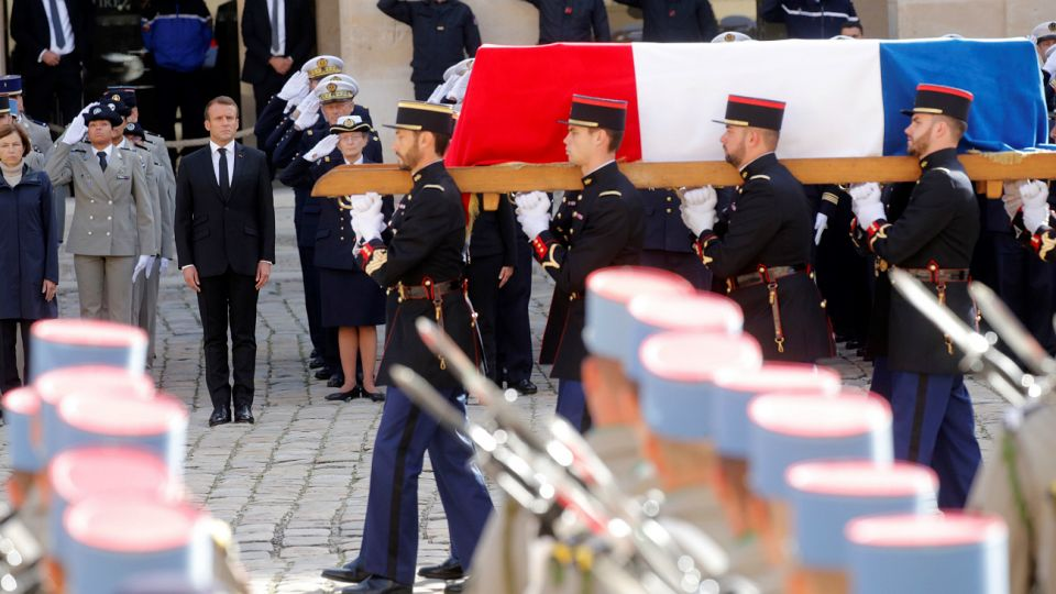 Funeral con honores a Chirac.