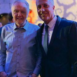 Con el actor Jon Voight, padre de Angelina