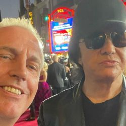 Marle y Gene Simmons de Kiss