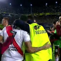 seguridad festejo jugadores river bombonera captura video 23102019