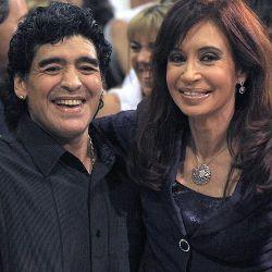 ARGENTINA-KIRCHNER-MARADONA