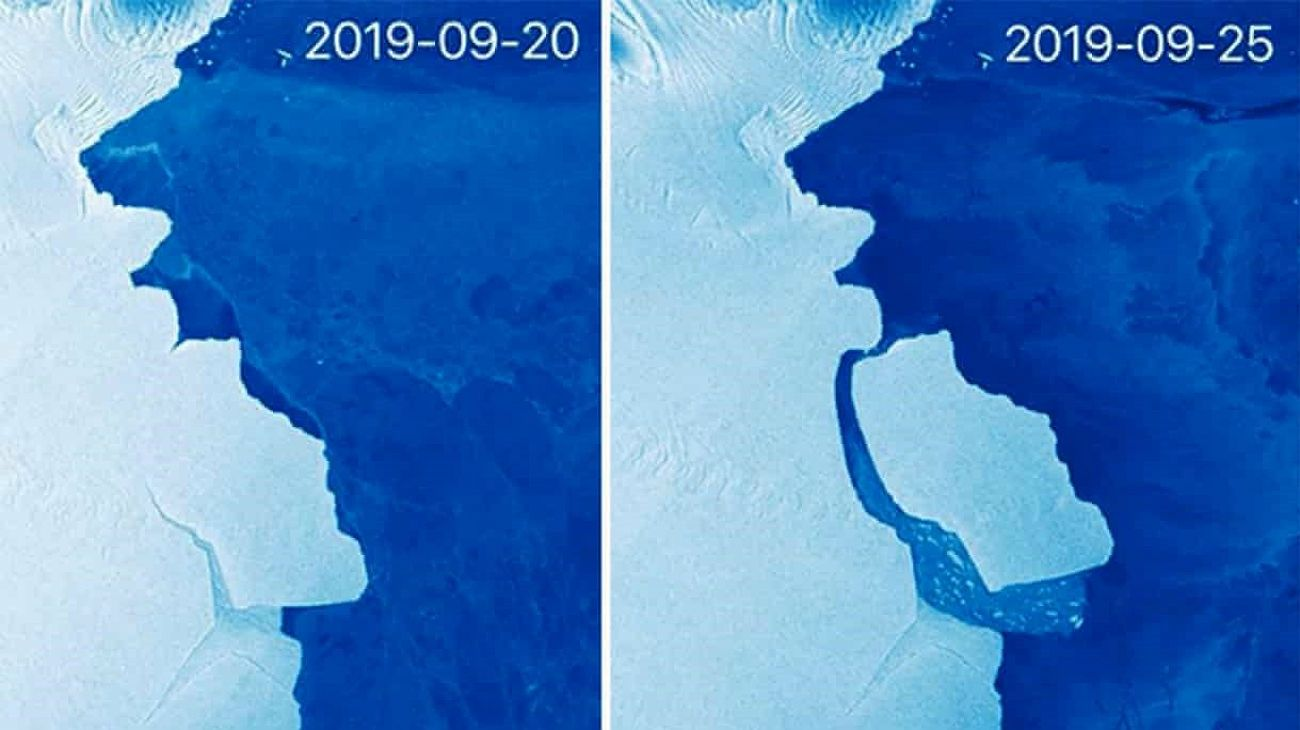 Un iceberg, siete veces el tamaño de la Ciudad de Buenos Aires, se desprende de la Antártida