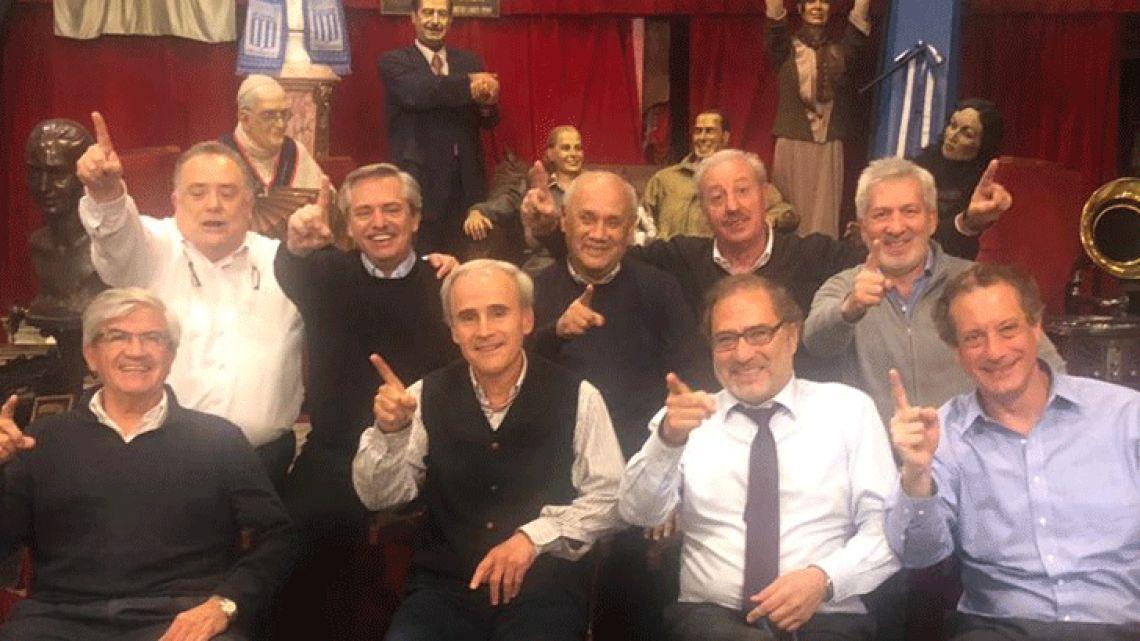 Alberto Fernández y su grupo de confianza | Foto:cedoc