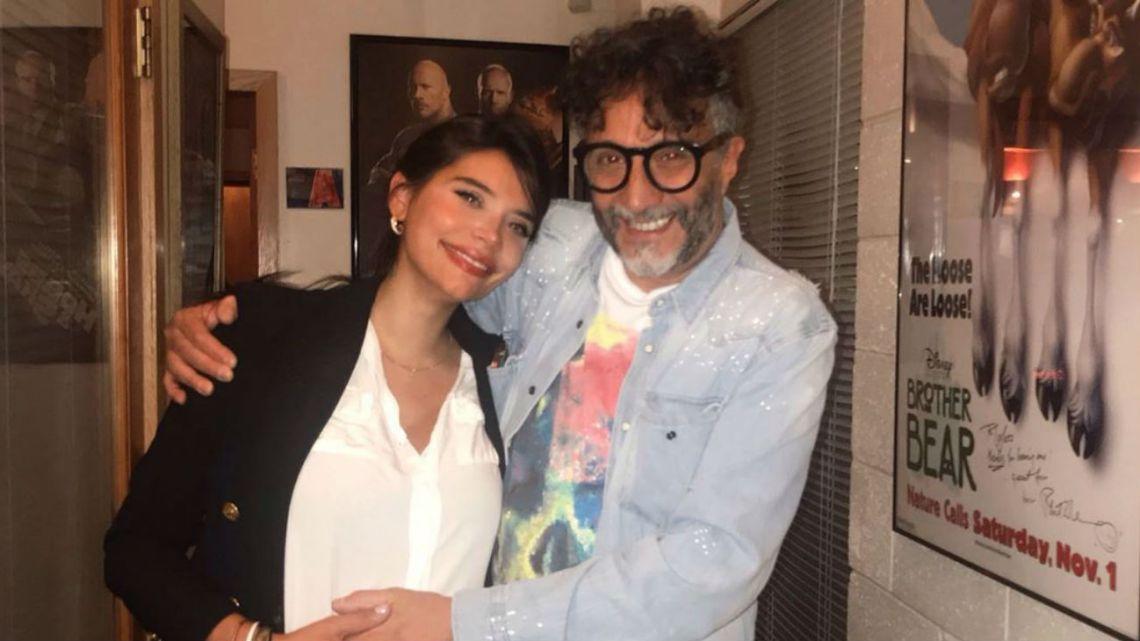 Eva de Dominici con Fito Páez