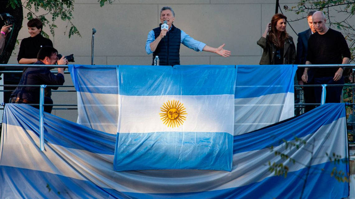 President Mauricio Macri speaks during a campaign rally in Barrancas de Belgrano in Buenos Aires, Argentina, on Saturday, Sept. 28, 2019.