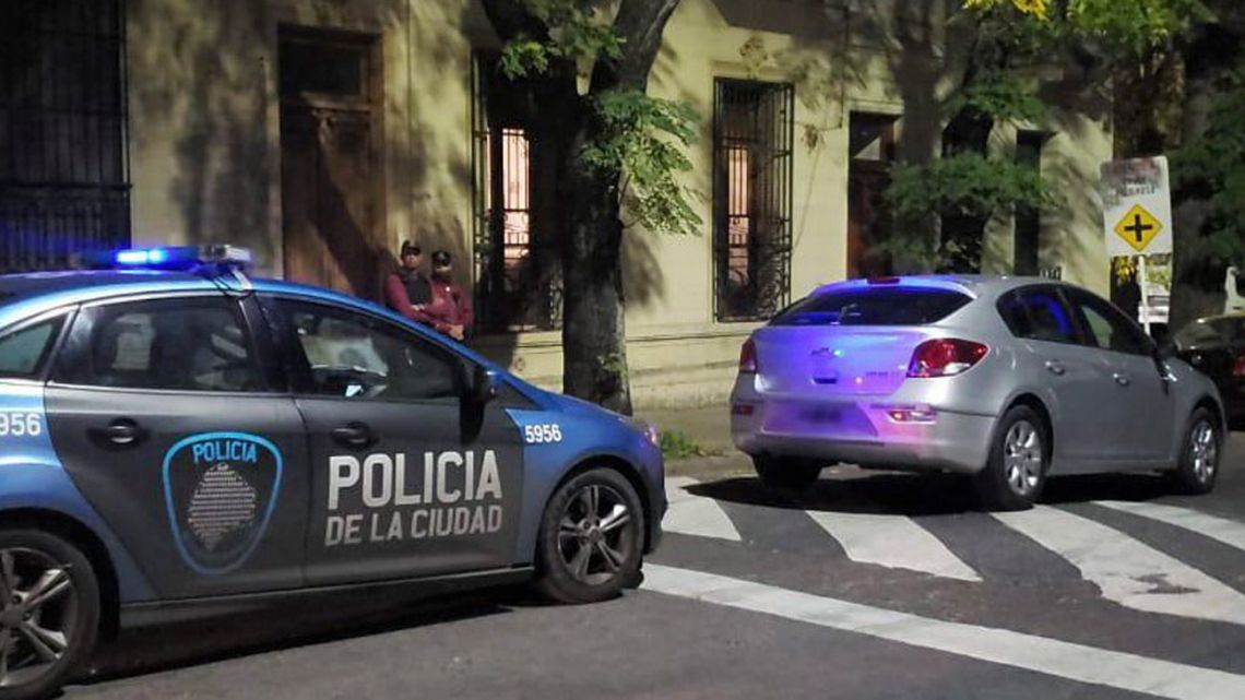 A City police car, pictured in Boedo.