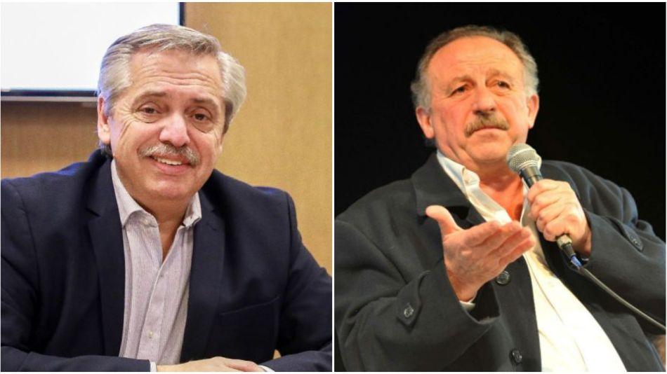 Alberto Fernández y Hugo Yasky