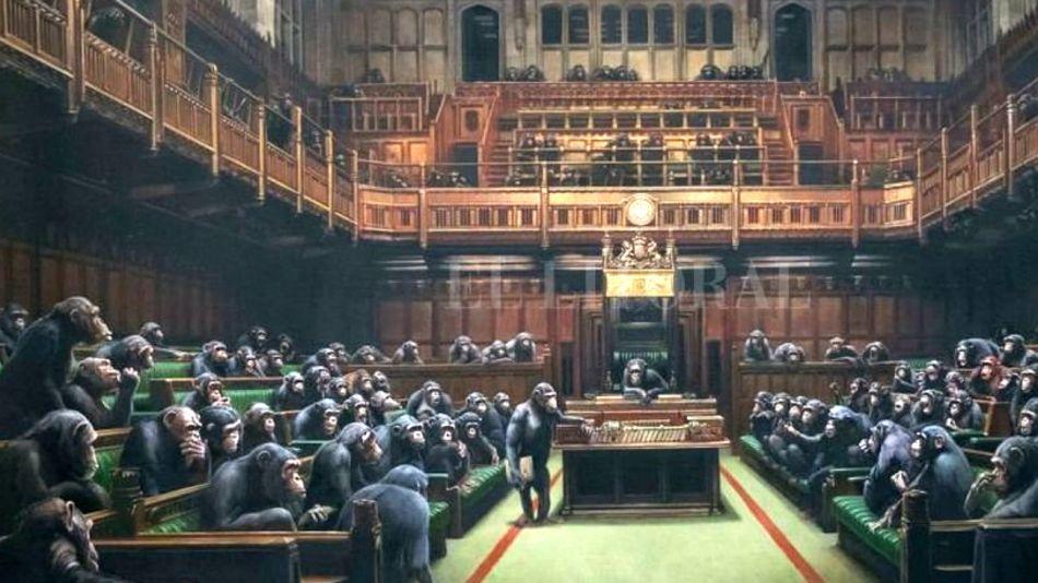 """""""Parlamento involucionado"""", la pintura vendida en 12,2 millones de dólares."""