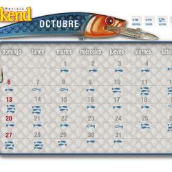 Calendario con las mejores fechas para pescar.