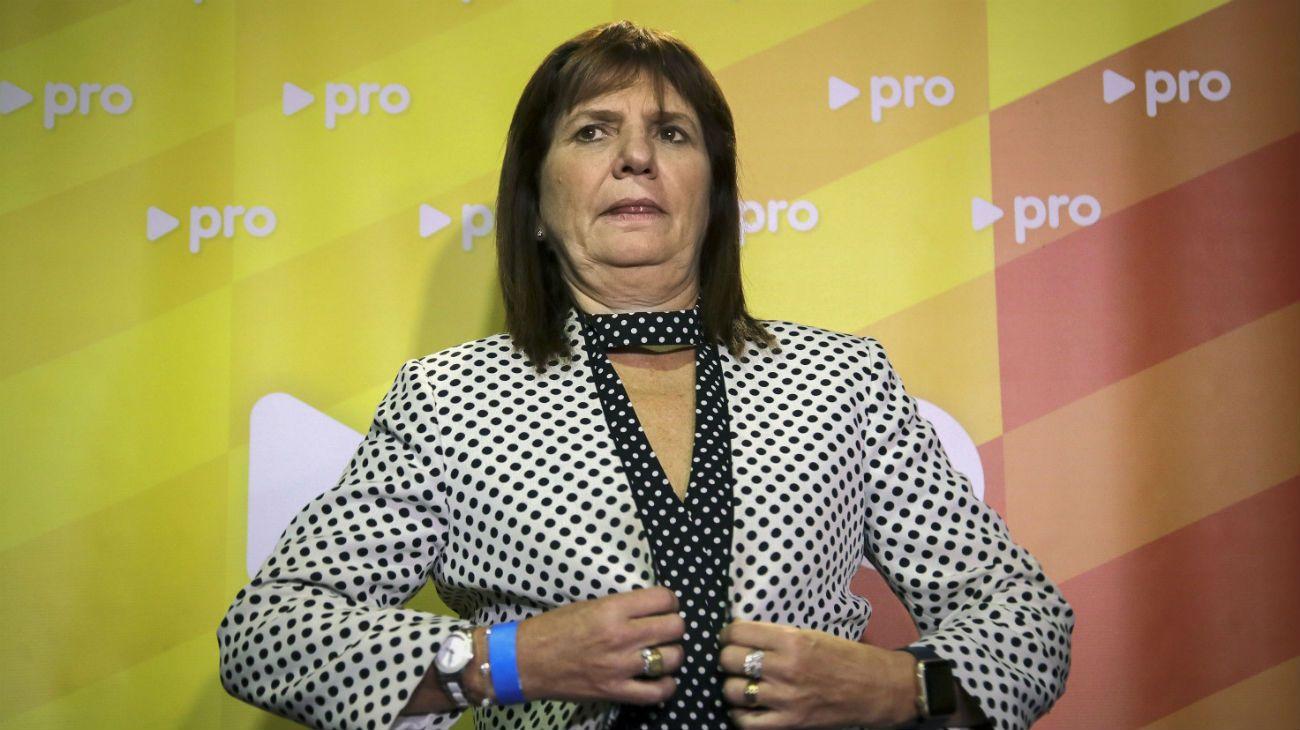 Archivo. La ex ministra de Seguridad, Patricia Bullrich.