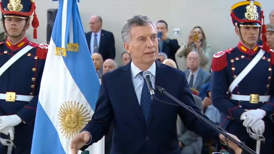 Mauricio Macri, en el homenaje a los soldados abatidos por Montoneros en 1975 en Formosa.