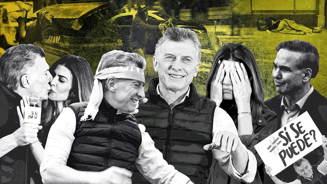At times Macri looks as if he's hooked on being a candidate. But in reality he is the president.