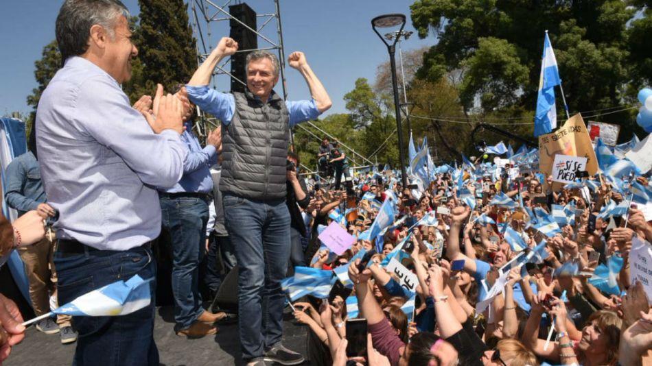 Mauricio Macri encabezó un acto en la ciudad de Mendoza.