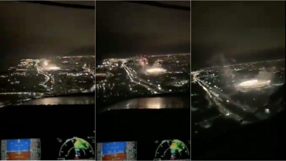 El video del Monumental de los pilotos se viralizó en las redes.