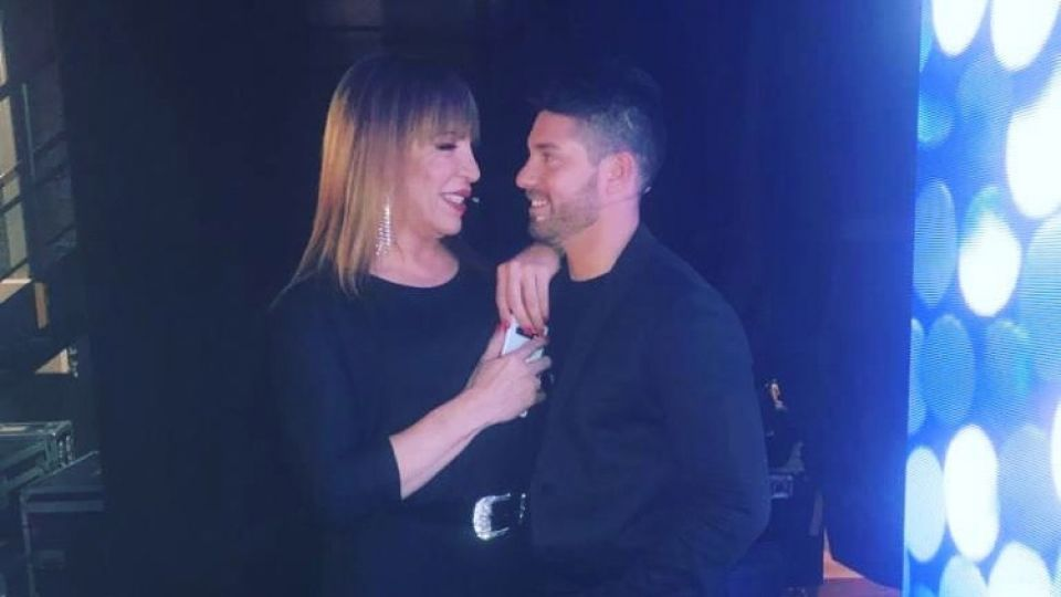 Lizi Tagliani y su novio en el programa de Susana