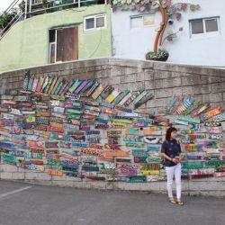 Las casas en lo alto de Busan están todas intervenidas por artistas plásticos.