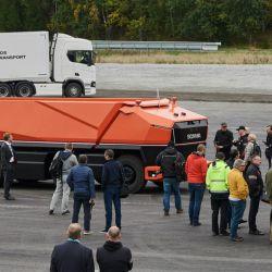 El concept Scania AXL, camión autónomo sin cabina, hizo su primera demostración pública en el Innovation Day, evento realizado en Suecia.